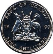 1000 Shillings (1 Euro Netherlands) -  obverse