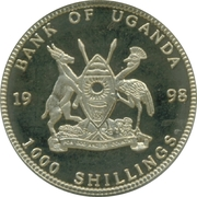 1000 Shillings (50 Euro cent Netherlands) -  obverse