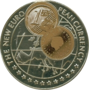 1000 Shillings (1 Euro cent Netherlands) -  reverse