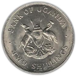 UGANDA 10 Shillings 1966 UNC Pick 2