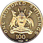 100 Shillings (Visit of Pope Paul VI) – obverse