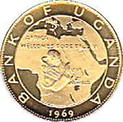 100 Shillings (Visit of Pope Paul VI) – reverse