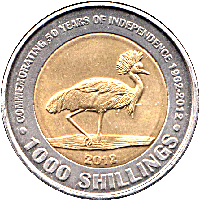UGANDA 1000 SHILLINGS 2012 UNC 50th YEARS OF INDEPENDENCE,1962-2012,COMMEMORATIV