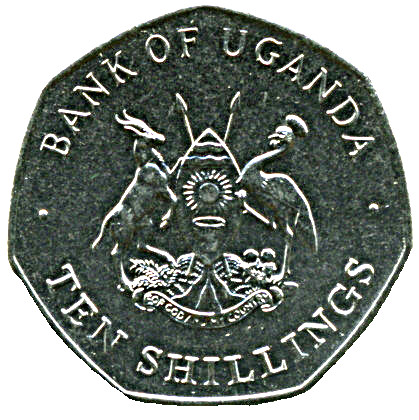UGANDA KM30 1987 UNC-UNCIRCULATED MINT OLD VINTAGE 10 SHILLINGS COIN