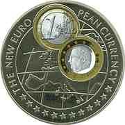 1000 Shillings (1 Euro Belgium) -  reverse