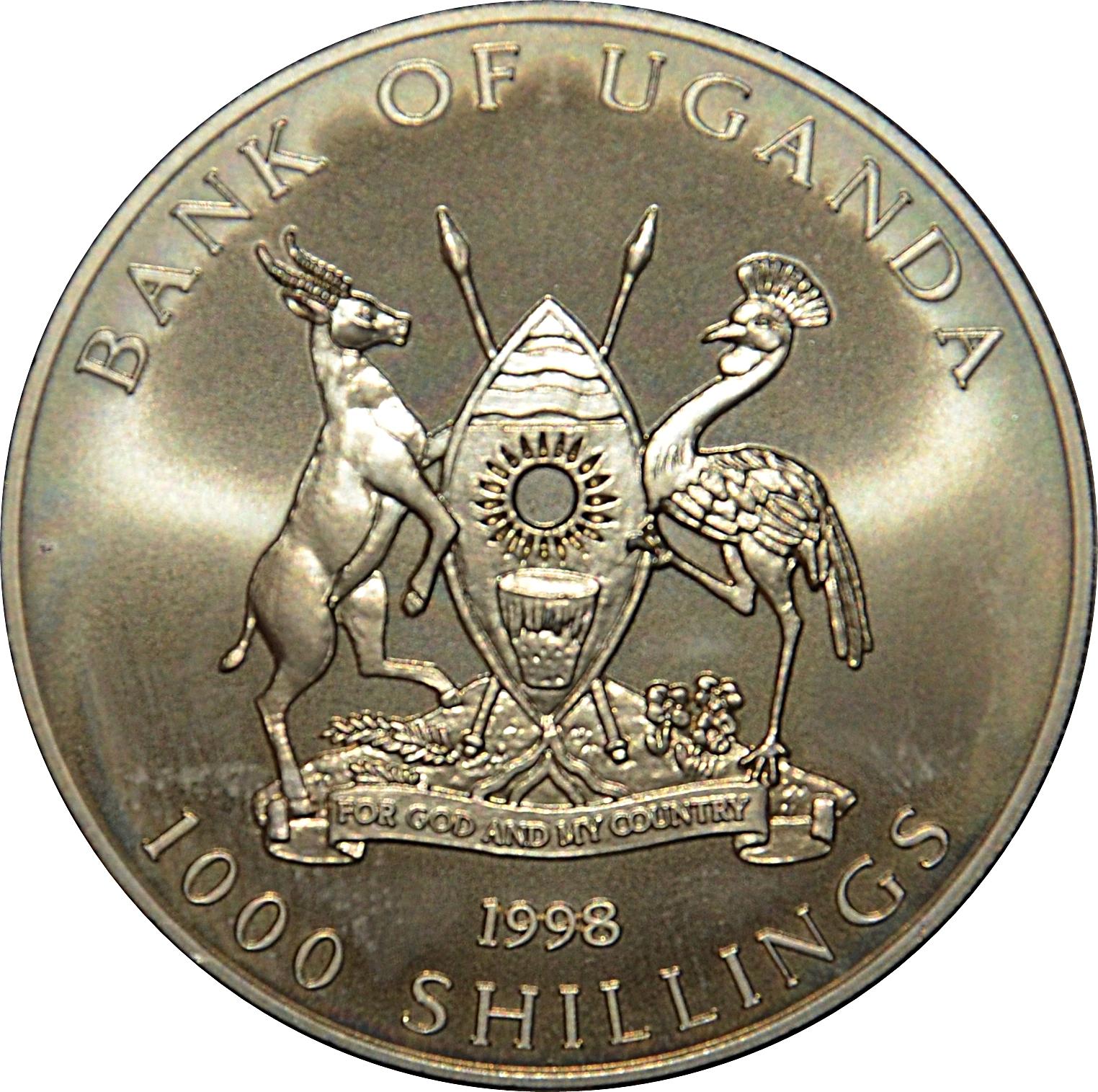 UGANDA 5 SCHILLINGS 1982 P 15. UNC
