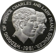 100 Shillings (Wedding of Prince Charles and Lady Diana) – reverse