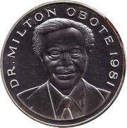 500 Shillings (Dr. Milton Obote) – reverse