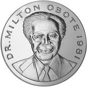 500 Shillings (Dr Milton Obote) – obverse