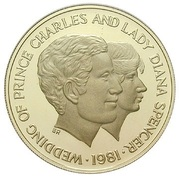 1000 Shillings (Wedding of Prince Charles and Lady Diana) – reverse