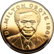 5000 Shillings (Dr. Milton Obote) – obverse