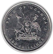 100 Shillings (Monkey) – obverse