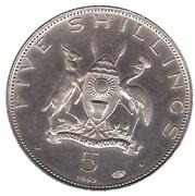 5 Shillings (Visit of Pope Paul VI) – obverse