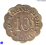 10 Centimes (Ouveillan) – obverse