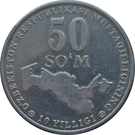50 Soʻm (Independence) – reverse