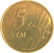5 Soʻm – reverse