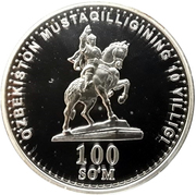 100 Soʻm (Lenk monument in Timur) – obverse