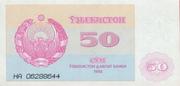 50 Soʻm – obverse
