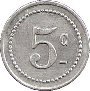 5 Centimes - Unions commerciales – reverse