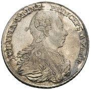 ½ Thaler - Johann Wenzel -  obverse