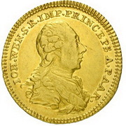 1 Ducat - Johann Wenzel -  obverse