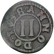 2 Pfennig - Theodor Adolf von der Recke – reverse