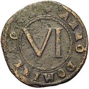 6 Pfennig - Theodor Adolf von der Recke – reverse