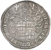 1 Thaler - Theodor Adolph von der Recke – reverse