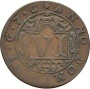 6 pfennig - Ferdinand II. von Fürstenberg – reverse