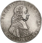 1 Thaler - Hermann Werner von Metternich – obverse