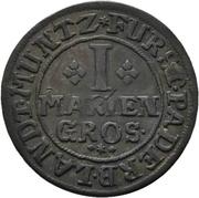 1 Mariengroschen - Franz Arnold von Metternich – reverse