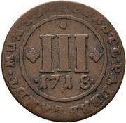 3 Pfennig - Franz Arnold von Metternich – reverse