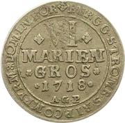 6 Mariengroschen - Franz Arnold von Metternich – reverse