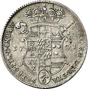 ⅙ Thaler - Clemens August von Bayern – reverse