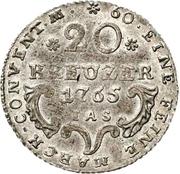 20 Kreuzer - Wilhelm Anton von Asseburg (Konventionskreuzer) – reverse