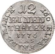 1/12 Thaler - Wilhelm Anton von Asseburg – reverse