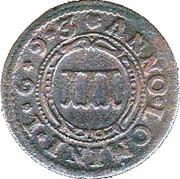 3 Pfennig - Hermann Werner von Metternich – reverse