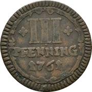 3 Pfennig (Sede Vacante) – reverse