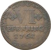 6 Pfennig (Sede Vacante) – reverse