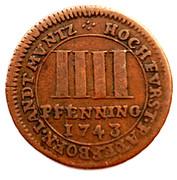 4 Pfennig - Clemens August – reverse