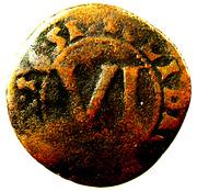 6 Pfennig - Theodor Adolf – reverse