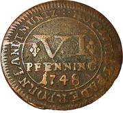 6 Pfenning - Clemens August – reverse