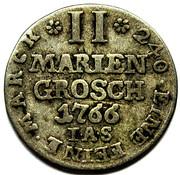 2 Mariengroschen - Wilhelm Anton von Asseburg – reverse