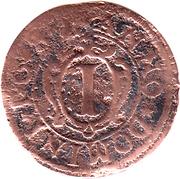 1 Pfennig - Hermann Werner von Metternich – reverse