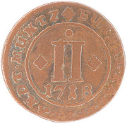 2 Pfennig - Franz Arnold von Metternich – reverse