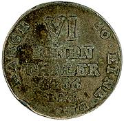 ⅙ Thaler - Wilhelm Anton von Asseburg – reverse