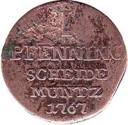1 Pfennig - Wilhelm Anton – reverse