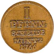 1 Pfennig - Wilhelm Anton von Asseburg – reverse