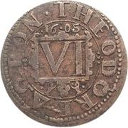 6 Pfennig – reverse