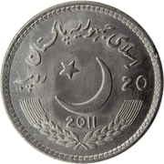 20 Rupees (150 Years Celebrations of Lawrence College) -  obverse